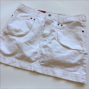 AG Jeans White Mini Skirt